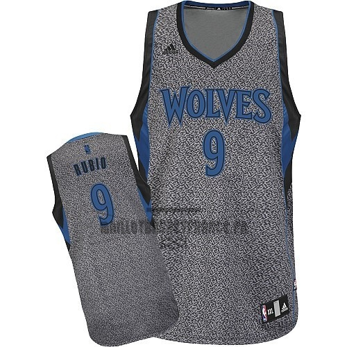 Meilleur Maillot NBA 2013 Static Fashion Minnesota Timberwolves NO.9 Ricky Rubio
