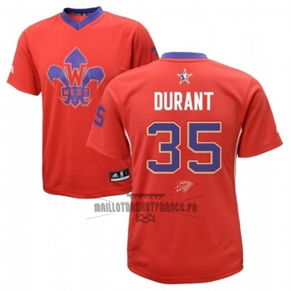 Meilleur Maillot NBA 2014 All Star NO.35 Kevin Durant Rouge