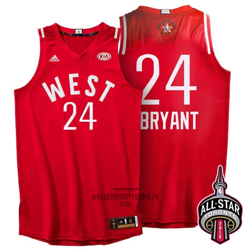 Meilleur Maillot NBA 2016 All Star NO.24 Kobe Bryant Rouge