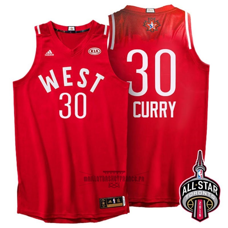 Meilleur Maillot NBA 2016 All Star NO.30 Stephen Curry Rouge