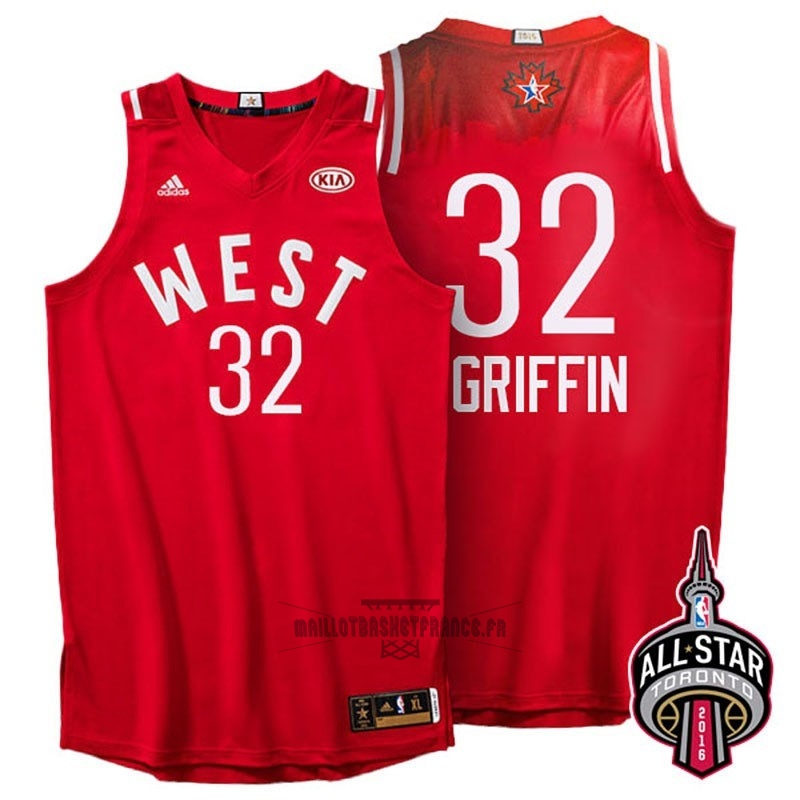 Meilleur Maillot NBA 2016 All Star NO.32 Blake Griffin Rouge