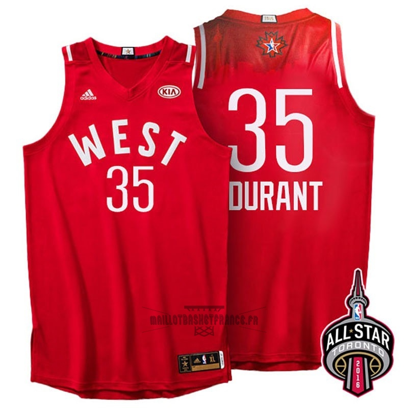 Meilleur Maillot NBA 2016 All Star NO.35 Kevin Durant Rouge