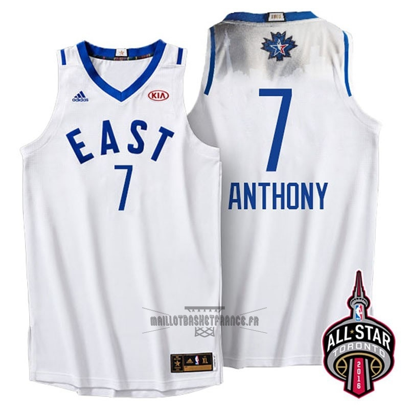 Meilleur Maillot NBA 2016 All Star NO.7 Carmelo Anthony Blanc