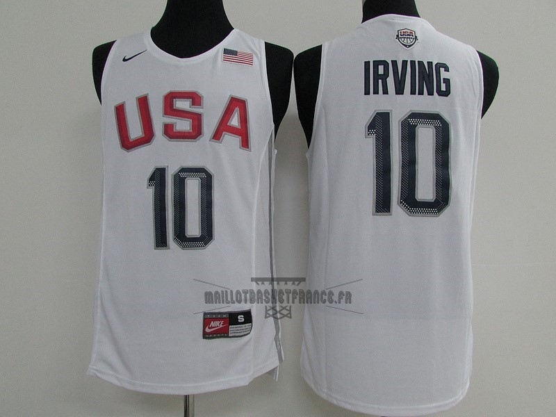 Meilleur Maillot NBA 2016 USA NO.10 Kyrie Irving Blanc