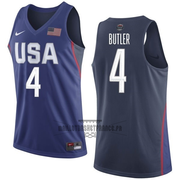 Meilleur Maillot NBA 2016 USA NO.4 Jimmy Butler Bleu