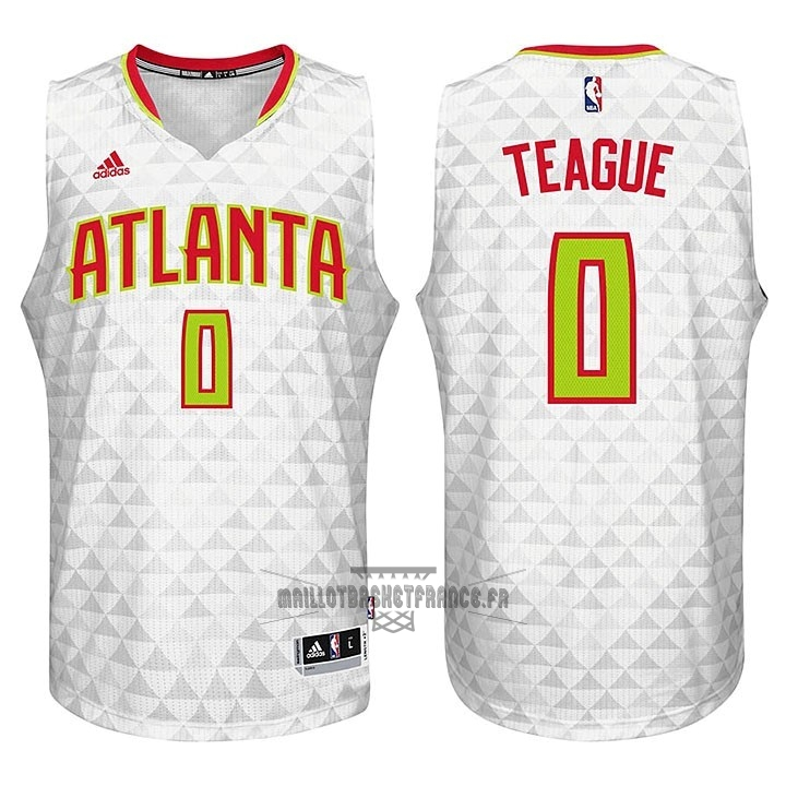 Meilleur Maillot NBA Atlanta Hawks No.0 Jeff Teague Blanc