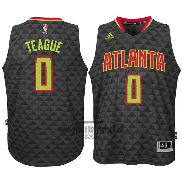 Meilleur Maillot NBA Atlanta Hawks No.0 Jeff Teague Noir