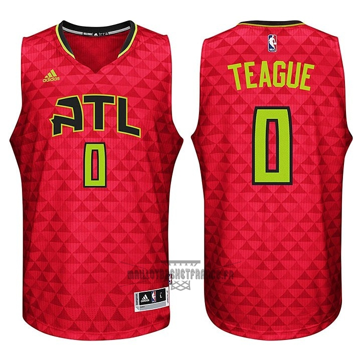 Meilleur Maillot NBA Atlanta Hawks No.0 Jeff Teague Rouge