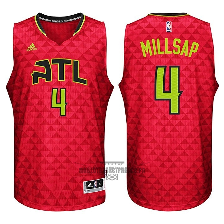 Meilleur Maillot NBA Atlanta Hawks No.4 Paul Millsap Rouge