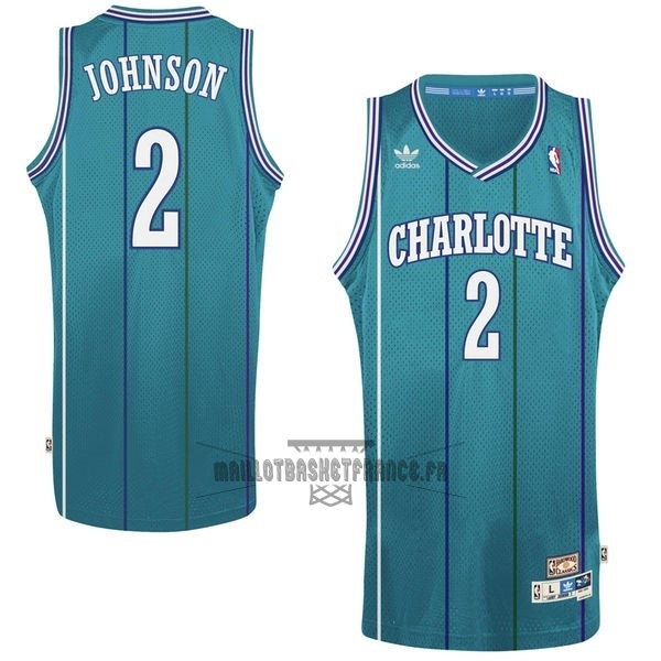 Meilleur Maillot NBA Charlotte Hornets No.2 Larry Demetric Johnson Vert