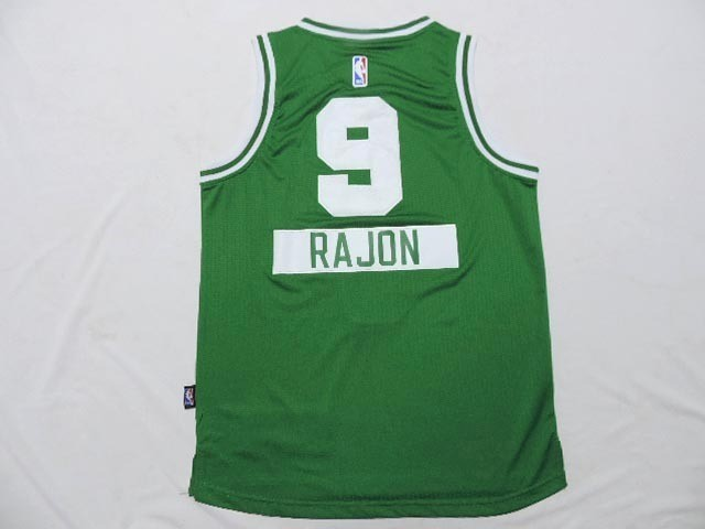 Meilleur Maillot NBA Enfant 2014 Noël Boston Celtics NO.9 Rajon Vert