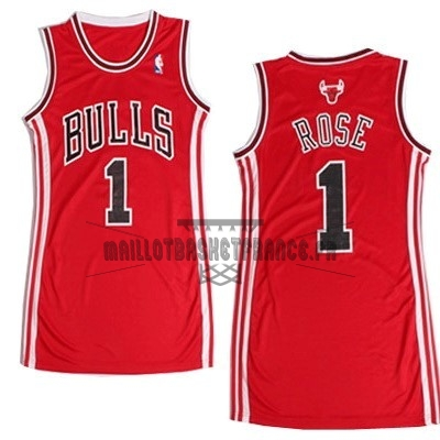 Meilleur Maillot NBA Femme Chicago Bulls NO.1 Derrick Rose Rouge