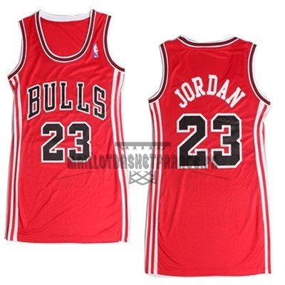 Meilleur Maillot NBA Femme Chicago Bulls NO.23 Michael Jordan Rouge