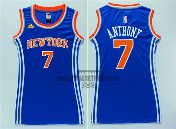 Meilleur Maillot NBA Femme New York Knicks NO.7 Carmelo Anthony Bleu