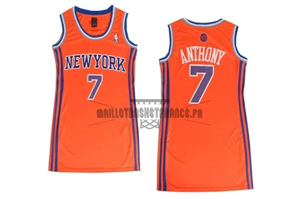 Meilleur Maillot NBA Femme New York Knicks NO.7 Carmelo Anthony Orange