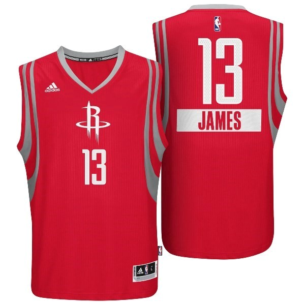 Meilleur Maillot NBA Golden State 2014 Noël NO.13 James Rouge