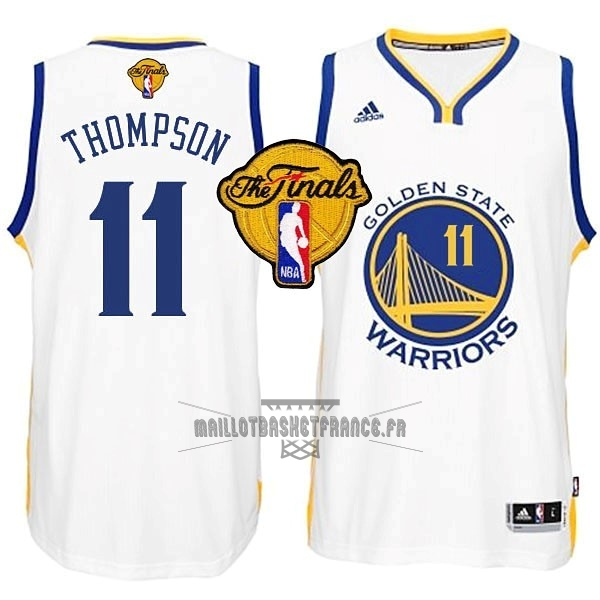 Meilleur Maillot NBA Golden State Warriors Finales NO.11 Thompson Blanc