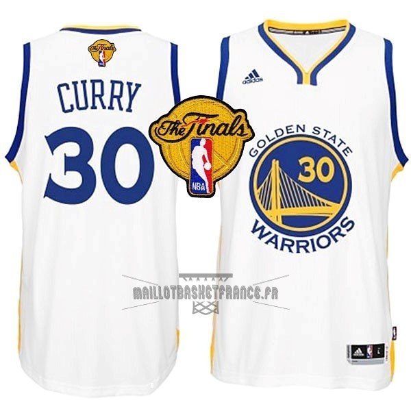 Meilleur Maillot NBA Golden State Warriors Finales NO.30 Curry Blanc