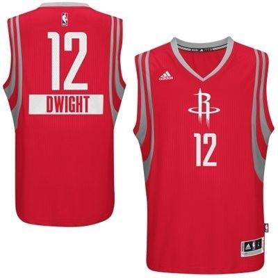 Meilleur Maillot NBA Houston Rockets 2014 Noël NO.12 Dwight Rouge