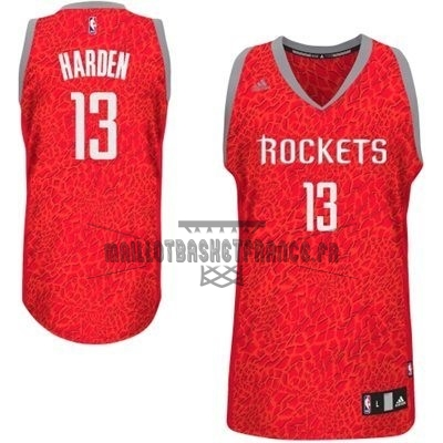 Meilleur Maillot NBA Houston Rockets Luz Léopard NO.13 Harden Rouge