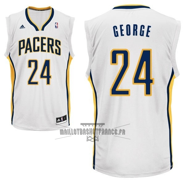 Meilleur Maillot NBA Indiana Pacers NO.24 Paul George Blanc