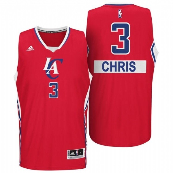 Meilleur Maillot NBA Los Angeles Clippers 2014 Noël NO.3 Chris Rouge