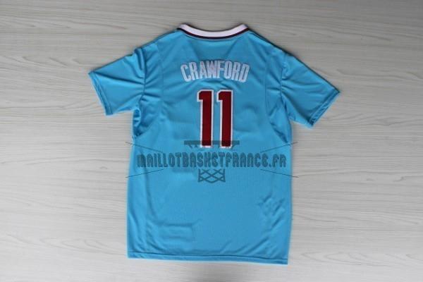 Meilleur Maillot NBA Los Angeles Clippers Manche Courte NO.11 Jamal Crawford Bleu