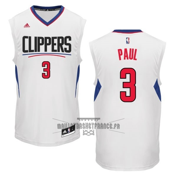 Meilleur Maillot NBA Los Angeles Clippers NO.3 Chris Paul Blanc