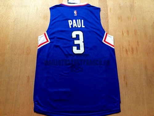 Meilleur Maillot NBA Los Angeles Clippers NO.3 Chris Paul Bleu