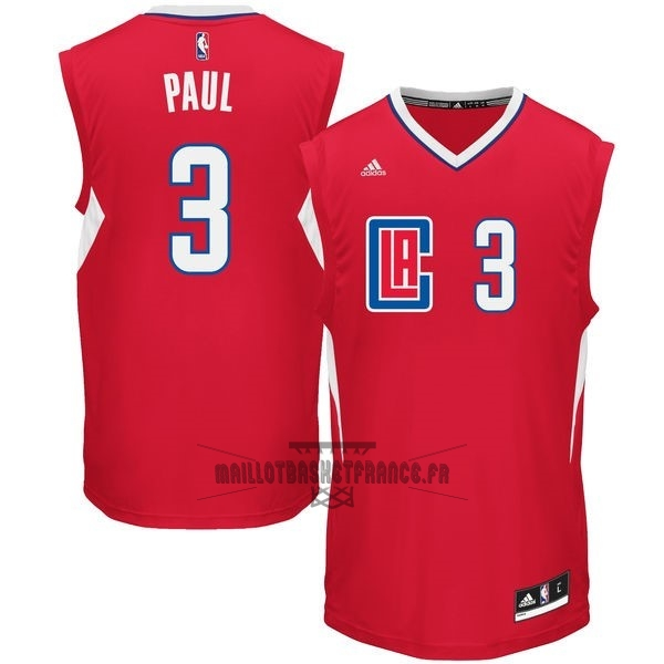 Meilleur Maillot NBA Los Angeles Clippers NO.3 Chris Paul Rouge
