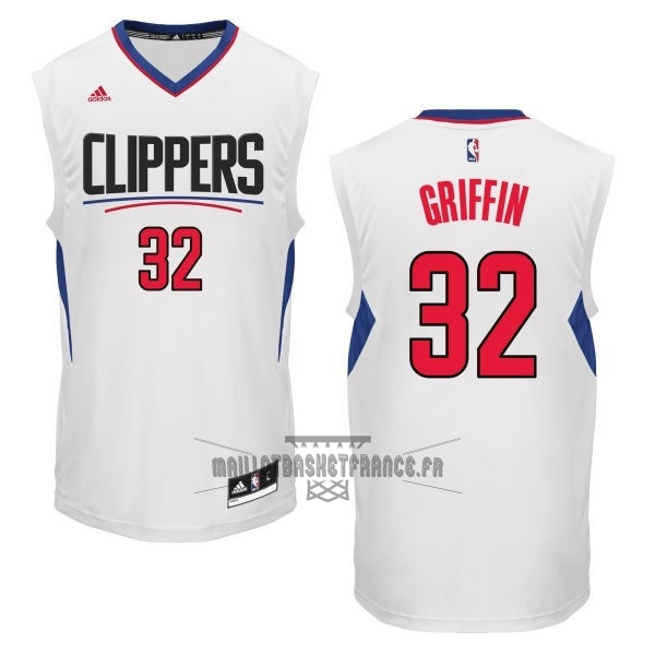 Meilleur Maillot NBA Los Angeles Clippers NO.32 Blake Griffin Blanc