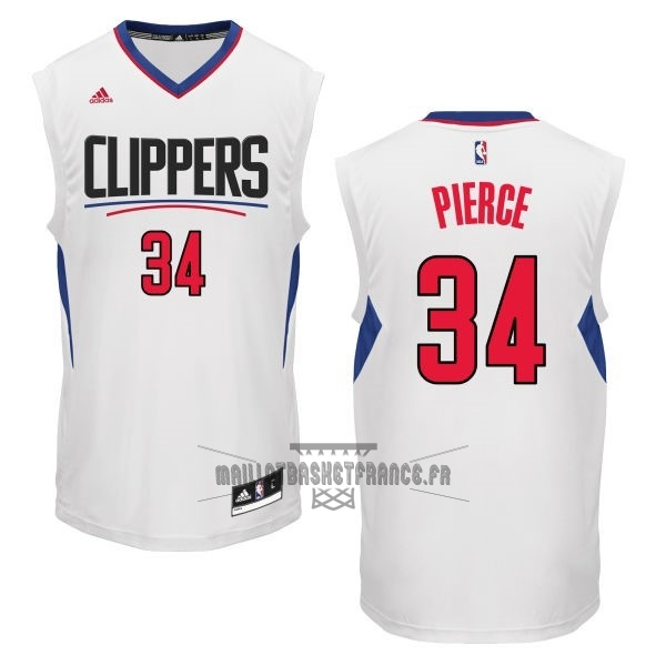 Meilleur Maillot NBA Los Angeles Clippers NO.34 Paul Pierce Blanc