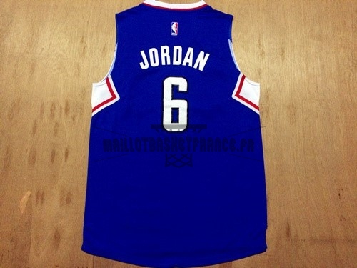 Meilleur Maillot NBA Los Angeles Clippers NO.6 DeAndre Jordan Bleu