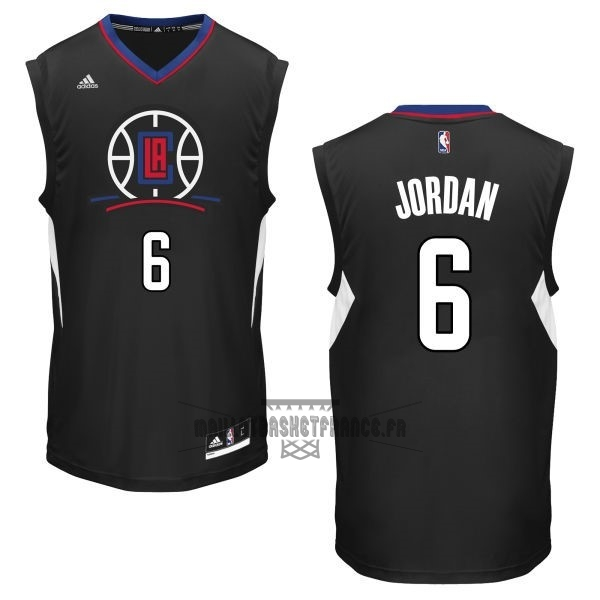Meilleur Maillot NBA Los Angeles Clippers NO.6 DeAndre Jordan Noir