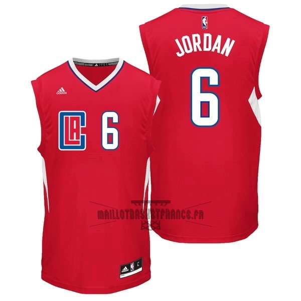 Meilleur Maillot NBA Los Angeles Clippers NO.6 DeAndre Jordan Rouge