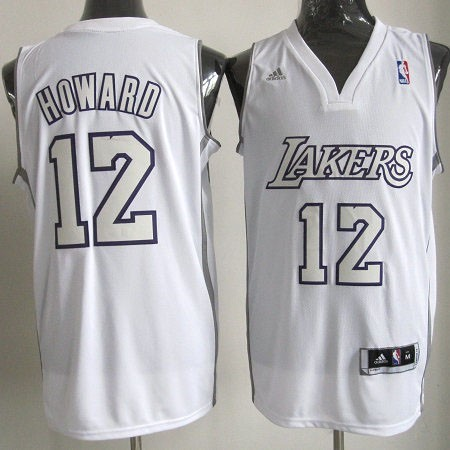 Meilleur Maillot NBA Los Angeles Lakers 2012 Noël NO.12 Howard Blanc
