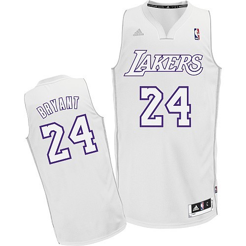Meilleur Maillot NBA Los Angeles Lakers 2012 Noël NO.24 Bryant Blanc