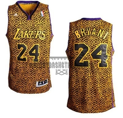 Meilleur Maillot NBA Los Angeles Lakers Luz Léopard NO.24 Bryant Dorado