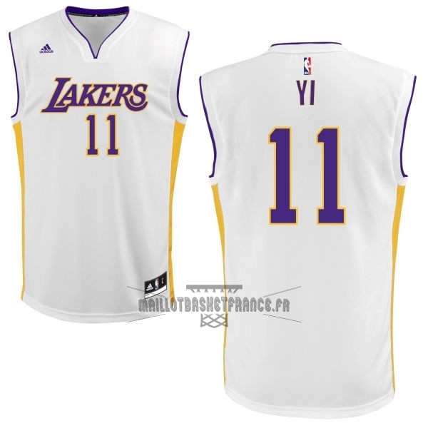 Meilleur Maillot NBA Los Angeles Lakers NO.11 Yi Blanc
