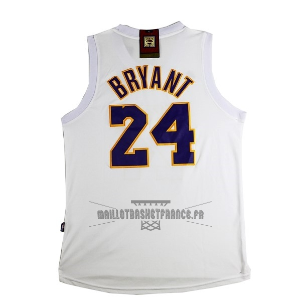 Meilleur Maillot NBA Los Angeles Lakers NO.24 Kobe Bryant Blanc Rose