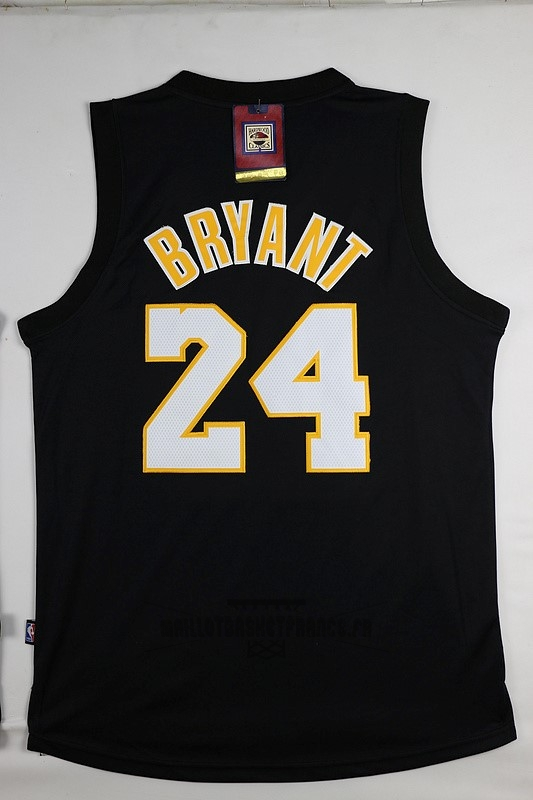Meilleur Maillot NBA Los Angeles Lakers NO.24 Kobe Bryant Noir Jaune