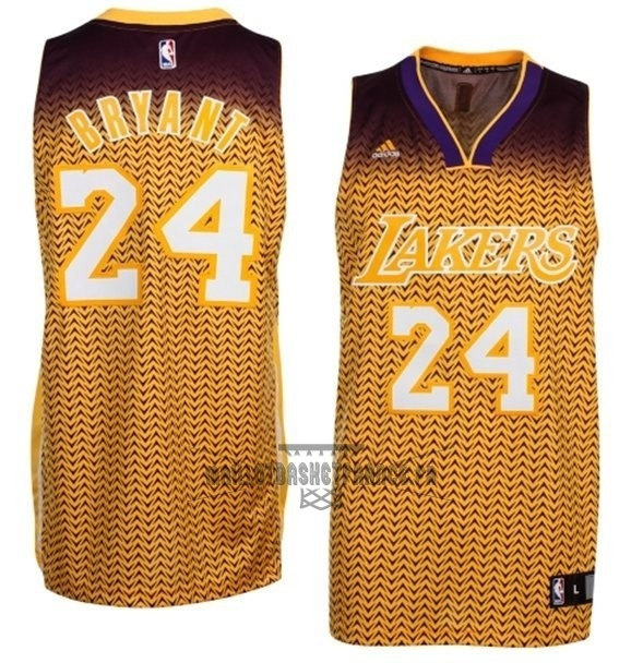Meilleur Maillot NBA Los Angeles Lakers Retentisse Fashion NO.24 Bryant Or