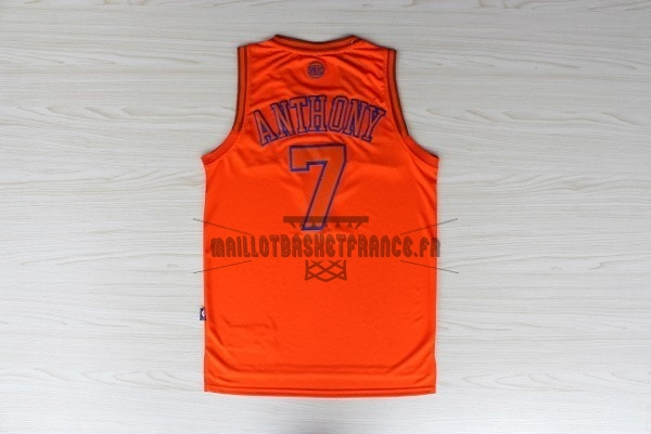 Meilleur Maillot NBA New York Knicks NO.7 Carmelo Anthony Orange