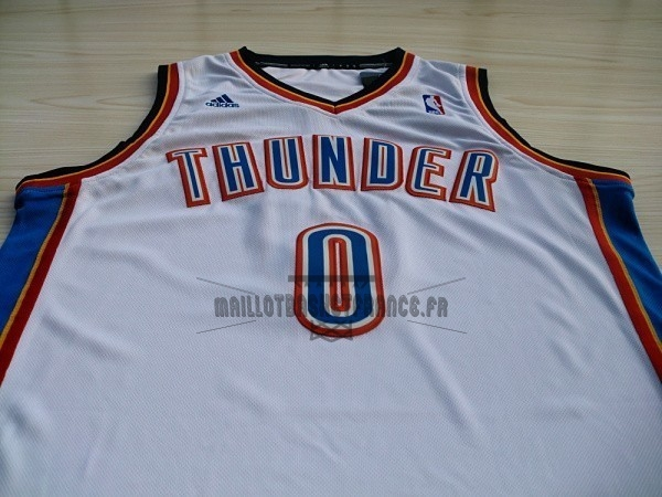 59f06136dfb92 ... Meilleur Maillot NBA Oklahoma City Thunder NO.0 Russell Westbrook Blanc  ...