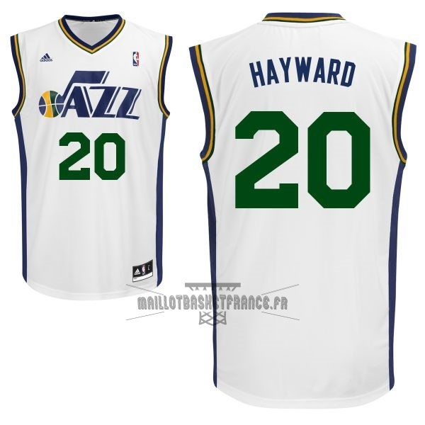 Meilleur Maillot NBA Utah Jazz NO.20 Gordon Hayward Blanc