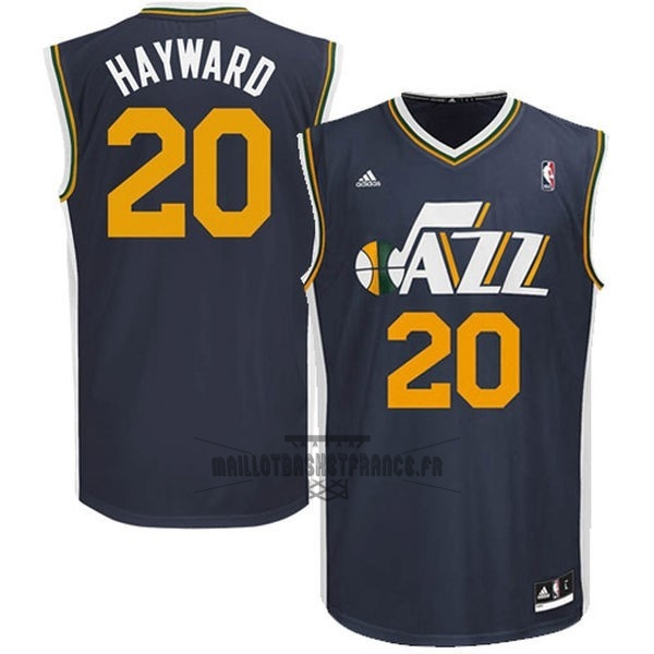 Meilleur Maillot NBA Utah Jazz NO.20 Gordon Hayward Bleu