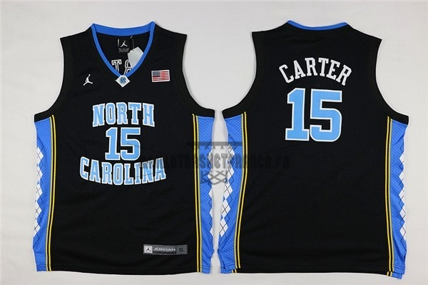 Meilleur Maillot NCAA Enfant North Carolina NO.15 Vince Carter Noir