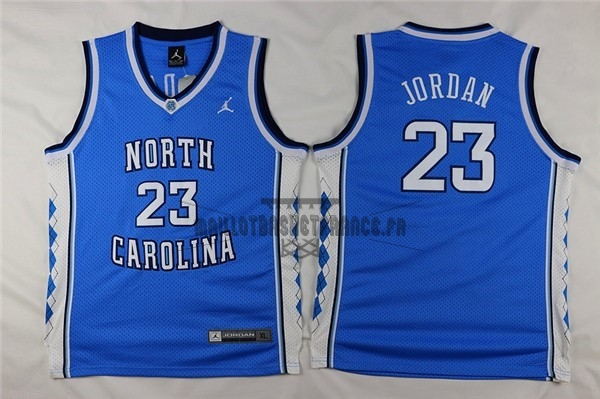 Meilleur Maillot NCAA Enfant North Carolina NO.23 Michael Jordan Bleu