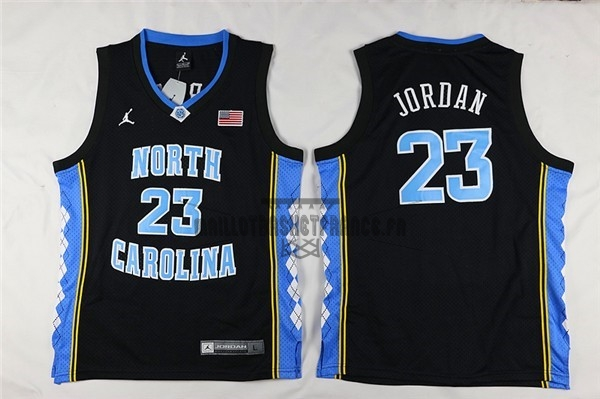 Meilleur Maillot NCAA Enfant North Carolina NO.23 Michael Jordan Noir