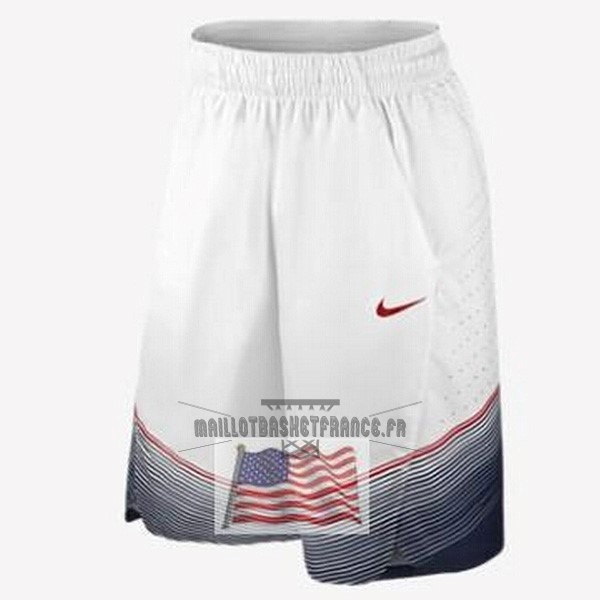 Meilleur Short Basket 2014 USA Blanc